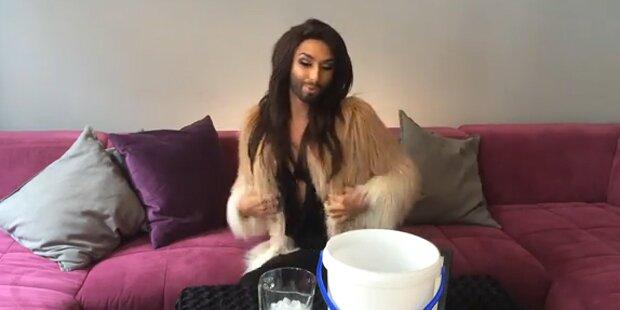 Ice Bucket: Conchita Wurst spendet lieber