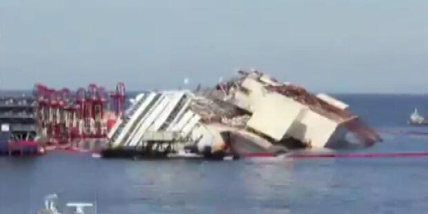 Costa Concordia: 50 Liter Öl ausgetreten