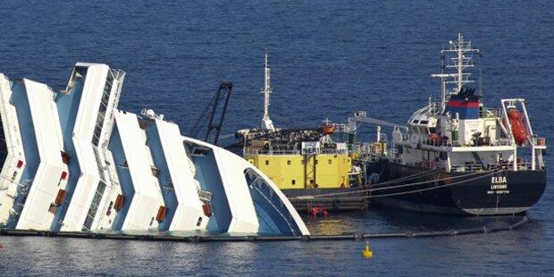Costa Concordia: Öl wird abgepumpt