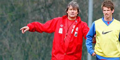 Constantini leitete erstes Training