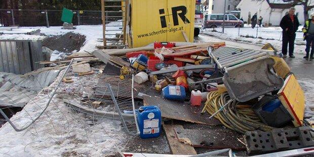 Gasexplosion: Teile flogen 50 Meter weit