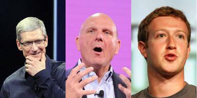 2013 wird hart für Cook, Ballmer & Zuckerberg