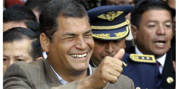 Correa als Präsident direkt bestätigt