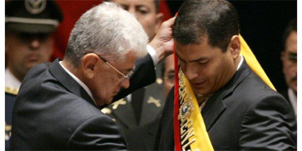 Linksgerichteter Correa als Präsident vereidigt