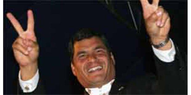 Ecuadors Präsident vor wichtigem Sieg