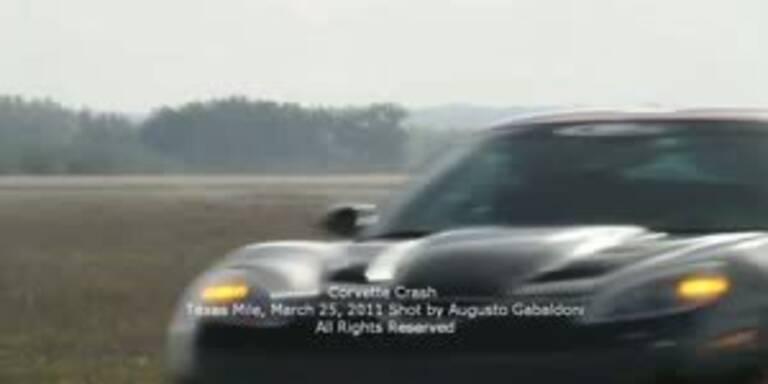 Corvette-Crash mit 370 km/h