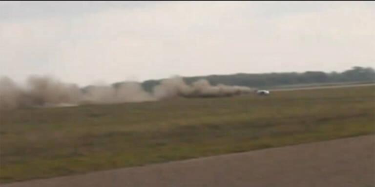 Video: Corvette fliegt mit 370 km/h ab