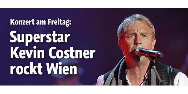 Kevin Costner rockt Wiener Stadthalle