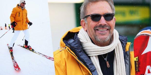 Kevin Costner geht Skifoan in Schladming