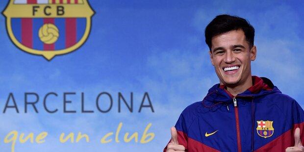 Barca: Coutinho fällt wochenlang aus