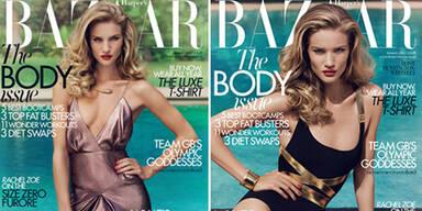 Zwei Jänner-Cover für Harper's Bazaar