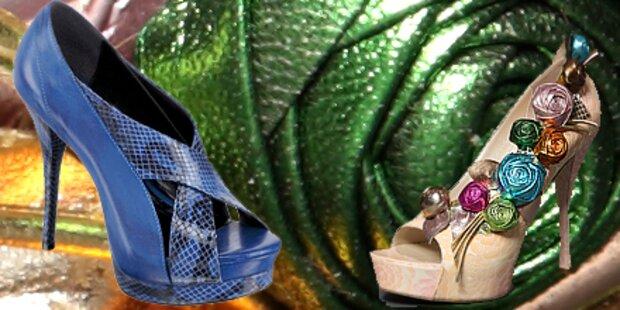 In luftigen Fashion-Höhen: Plateauheels
