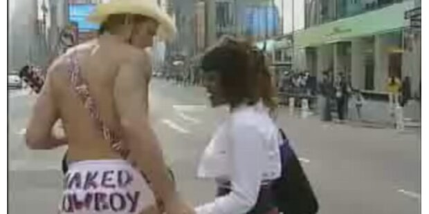 Nackter Cowboy will Bürgermeister werden