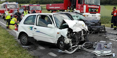 Unfall-Serie im Burgenland: 5 Schwerverletzte