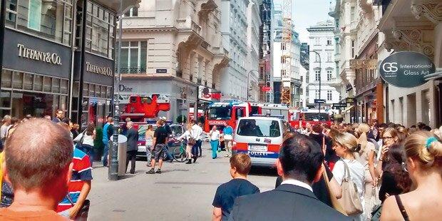 Explosion mitten in der Wiener City