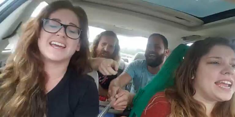 Horror-Crash mit Selfie-Stick gefilmt