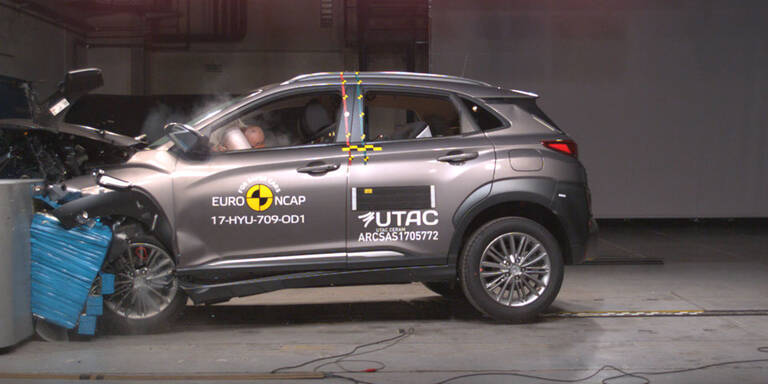 EuroNCAP-Crashtest: Mäßige Ergebnisse