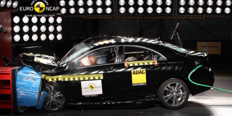 EuroNCAP-Crashtest: 4 Autos überzeugen
