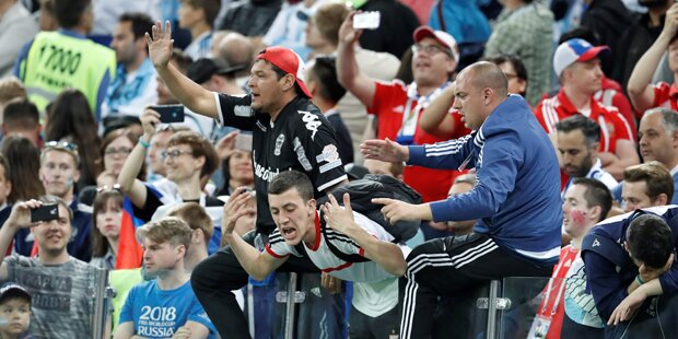 Argentinien-Fans schlugen Kroaten zusammen