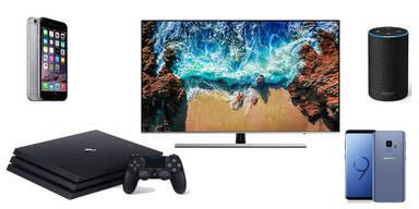 PS4 Pro, Galaxy S9, iPhone, 4K-TV & Echo zum Kampfpreis