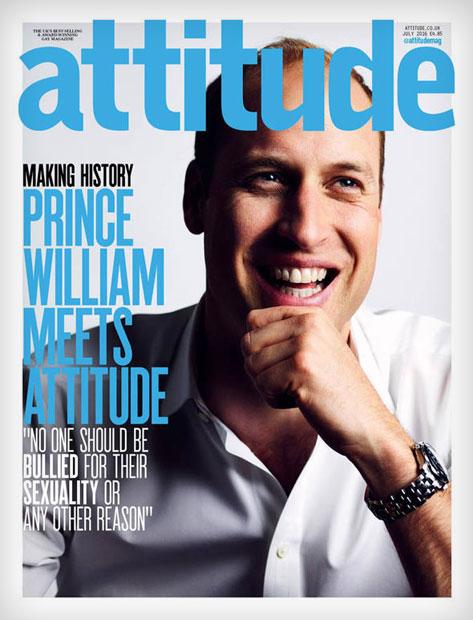 Prinz William auf dem Cover von Schwulenmagazin Attitude