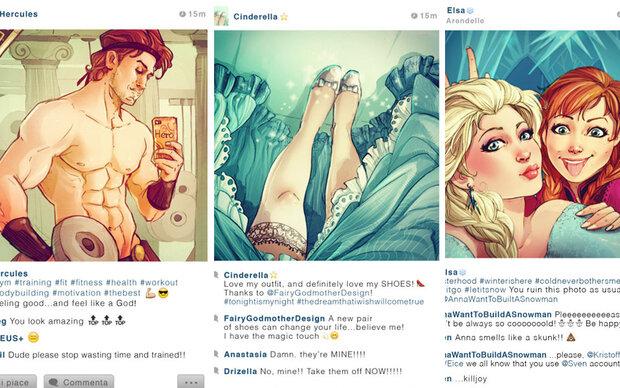 So wären Disney-Stars auf Instagram!