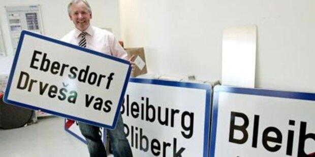 Dreisprachige Ortstafeln als Ausweg