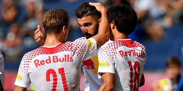 Salzburg spielt St. Pölten schwindlig