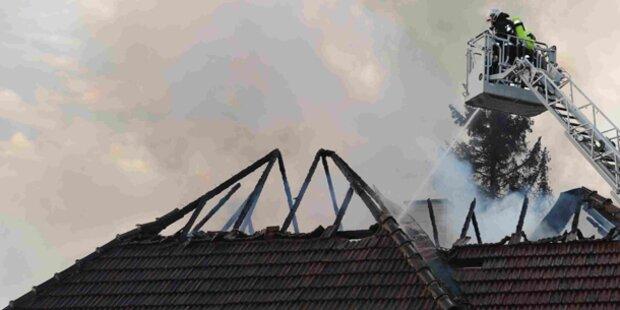 Feuer in Villa: Es war Brandstiftung