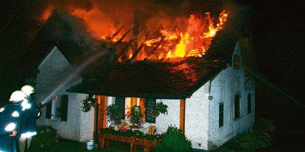 Brand nach starkem Gewitter in Oberdorf