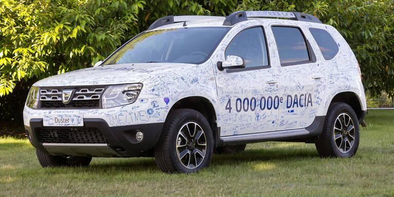 Dacia hat schon 4 Millionen Autos verkauft
