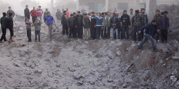 Luftwaffe bombardierte Vorort von Damaskus