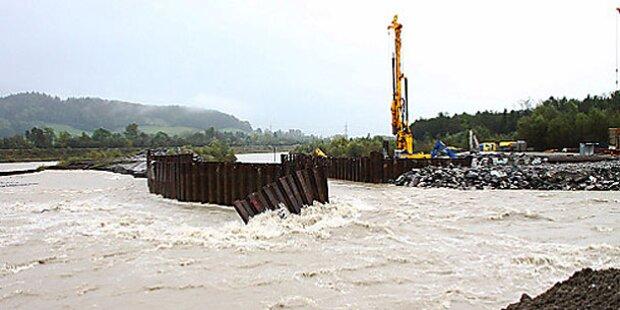 Illwerke: Damm bei Kraftwerk gebrochen