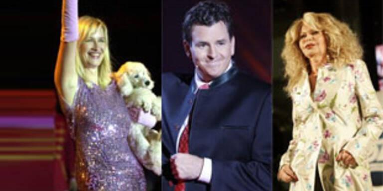 """Die """"neuen"""" Dancing-Stars: Stöckl, Pircher, Schiller (v.l.)"""