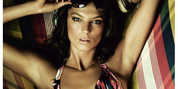 Daria Werbowy geht für  H&M baden.