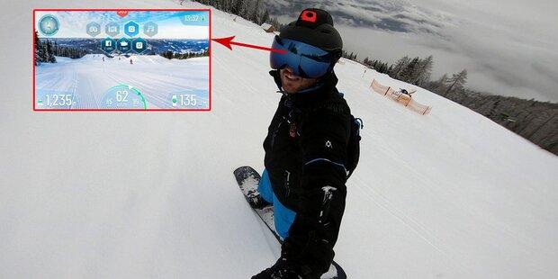 Skifahrer können smarten Datenhelm testen