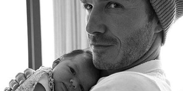 So verliebt ist Beckham in seine Harper Seven