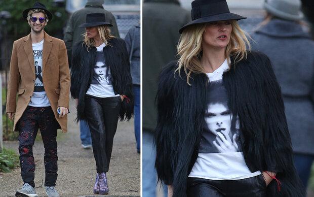 Kate Moss zeigt ihre Trauer mit Mode