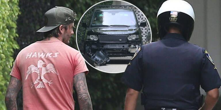 David Beckham verursacht Auto-Crash