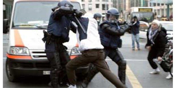 60 Festnahmen bei Protesten gegen Davos-Gipfel