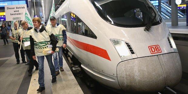 Warnstreik legt deutsche Bahn lahm