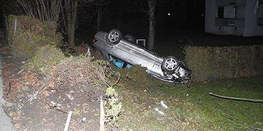 Alko-Lenker baut Rekord-Crash in Dornbirn