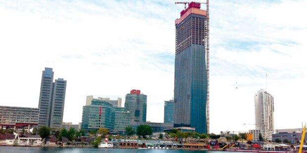 Wiener DC-Tower ragt schon 210 Meter hoch
