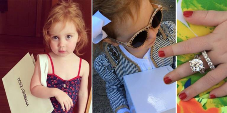 Zweijährige Luxus-Prinzessin auf Instagram