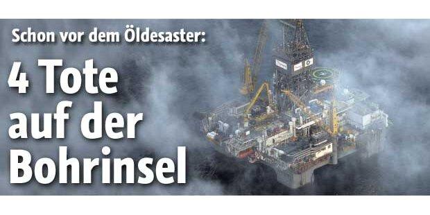 Vor Öldesaster 4 Tote auf BP-Bohrinsel