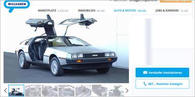 Originaler DeLorean DMC-12 auf willhaben