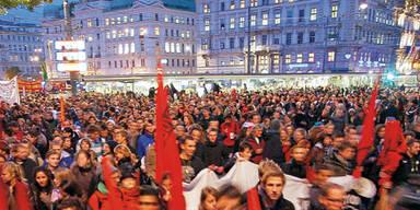 Studenten legen Wien lahm