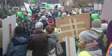 Ringsperre wegen Klima-Demo