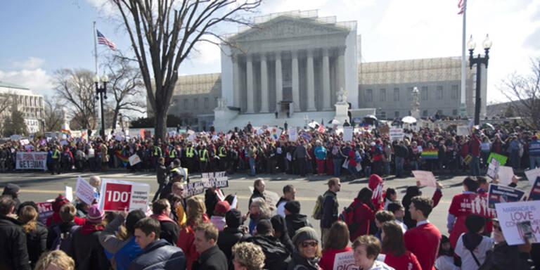 Oberstes US-Gericht berät über Homo-Ehe