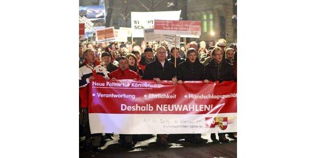 Kärntner protestieren gegen BZÖ/FPK